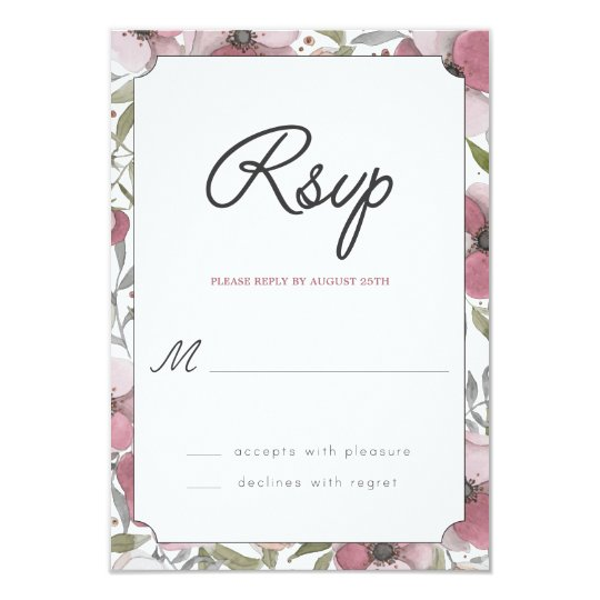 Pansy Blossoms RSVP Card