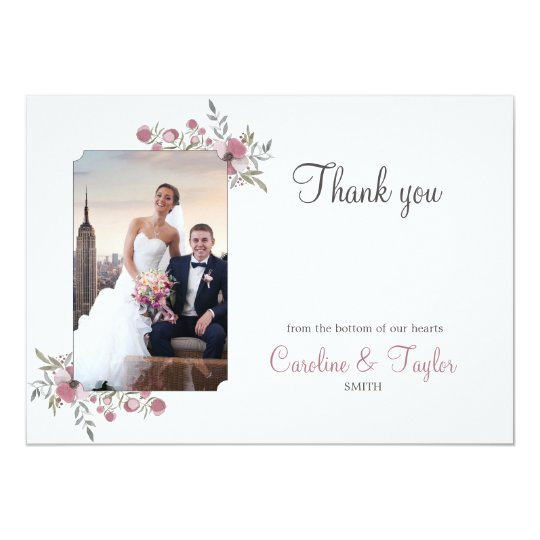Pansy Blossoms Thank You Photo Card
