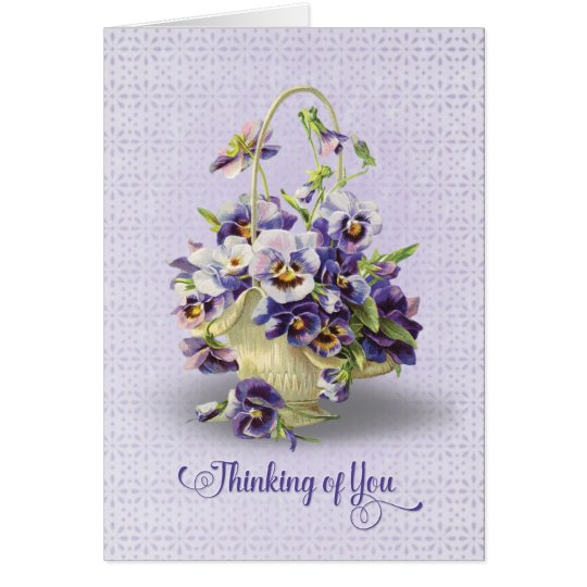 pansy bouquet-thinking of you card