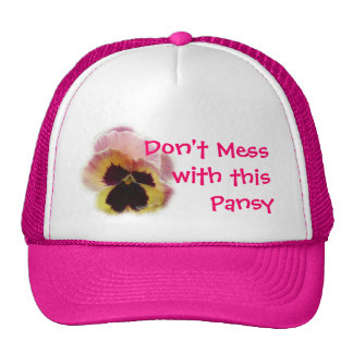 Pansy Cap -choose color & customize Trucker Hat