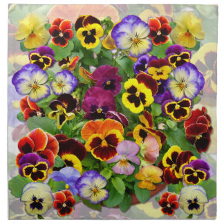 Pansy Delight~ Table  Napkins