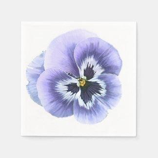 Pansy Face Purple Paper Napkin