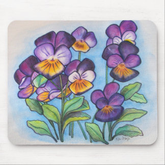 Pansy Faces mousepad