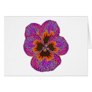 Pansy Flower Psychedelic Abstract Card