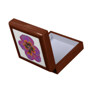 Pansy Flower Psychedelic Abstract Gift Box