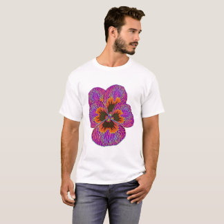 Pansy Flower Psychedelic Abstract T-Shirt