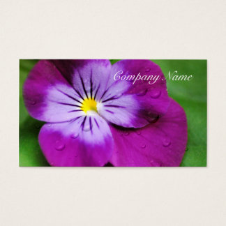 Pansy Flower Wildflower Purple Floral Business Card