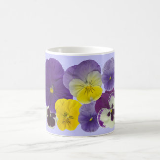 pansy flowers coffee mug