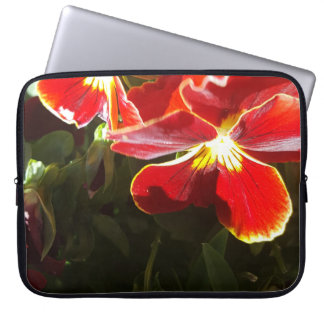 Pansy flowers laptop sleeve