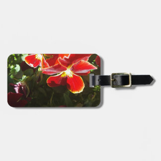 Pansy flowers luggage tag