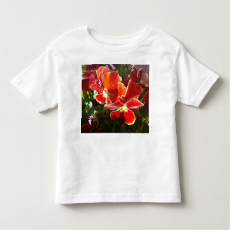 Pansy flowers toddler t-shirt