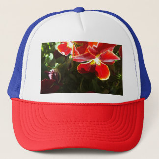 Pansy flowers trucker hat
