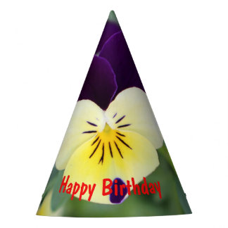 Pansy- Happy Birthday Party Hat