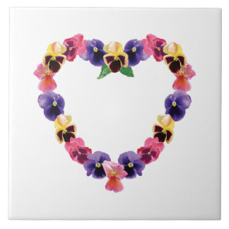 Pansy Heart Tile