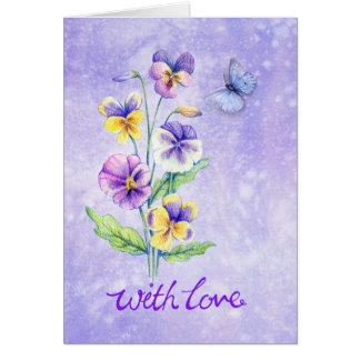 Pansy Note Card