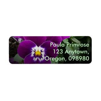 Pansy Nuptials Return Address Label