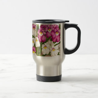 Pansy Orchid Flowers Travel Mug