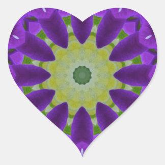 Pansy, Pansies Nature, Flower-Mandala Heart Sticker
