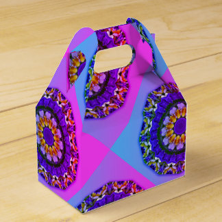 Pansy, Pansies Nature, Flower-Mandala Party Favor Boxes