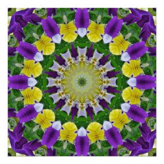 Pansy, Pansies Nature, Flower-Mandala Photo Print