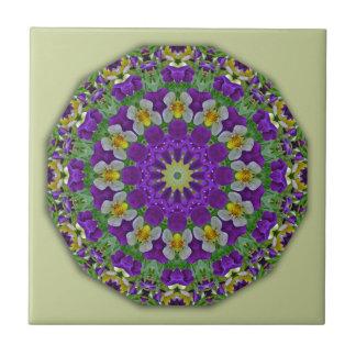 Pansy, Pansies Nature, Flower-Mandala Tiles