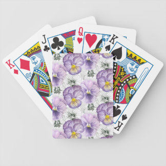Pansy pattern bicycle playing cards
