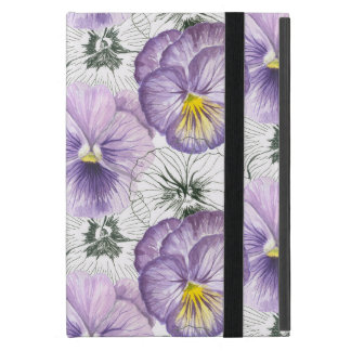 Pansy pattern cover for iPad mini