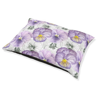 Pansy pattern large dog bed