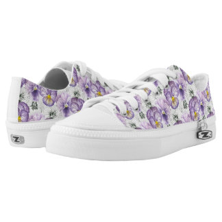 Pansy pattern Low-Top sneakers