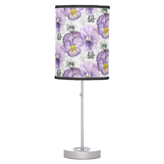 Pansy pattern table lamp