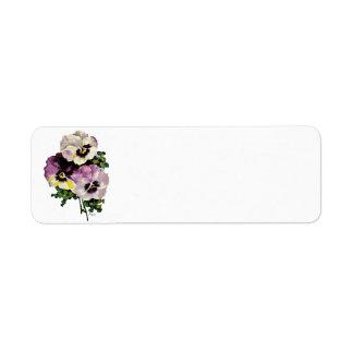 Pansy Return Address Label