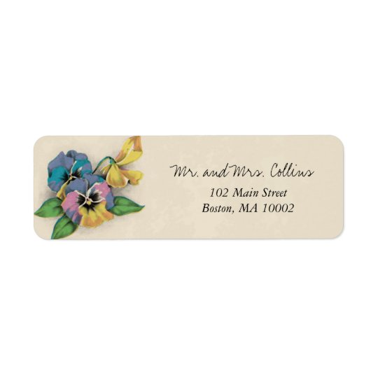 Pansy Return Address Labels