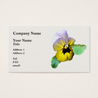 Pansy Saluting Business Card