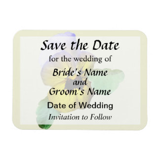 Pansy Saluting Save the Date Magnet