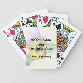 Pansy Saluting Wedding Supplies Bicycle Playing Cards