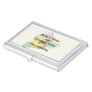 Pansy Saluting Wedding Supplies Business Card Holder