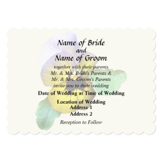 Pansy Saluting Wedding Supplies Card