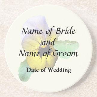 Pansy Saluting Wedding Supplies Coaster