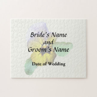 Pansy Saluting Wedding Supplies Jigsaw Puzzle