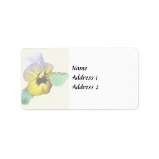 Pansy Saluting Wedding Supplies Label