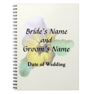 Pansy Saluting Wedding Supplies Notebook