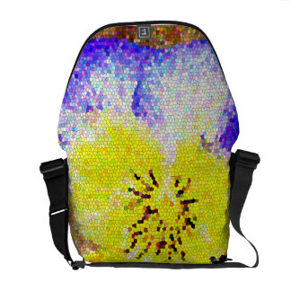 Pansy Stained Glass Rickshaw Messenger Bag