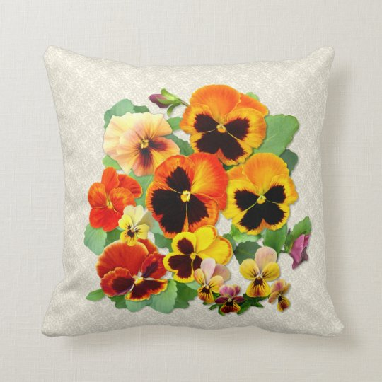 Pansy Sunset Throw Pillow