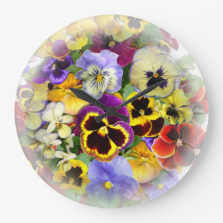 Pansy Time  ~ Clock
