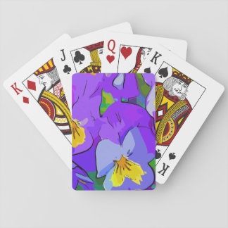 Pansyvioletand yellow playing cards