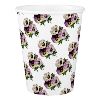 pansy water colourfinal signed3000 copy paper cup