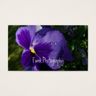 Pansy with Water Droplets Business Card
