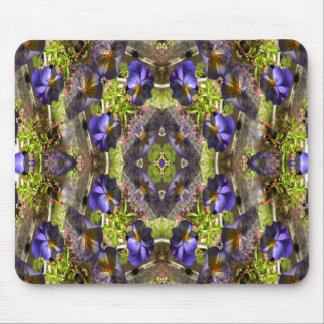 Pansy's on a platter... mouse pad
