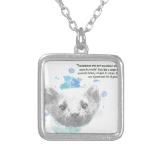 Pantalaimon, Lyra's Daemon from His Dark Materials Silver Plated Necklace