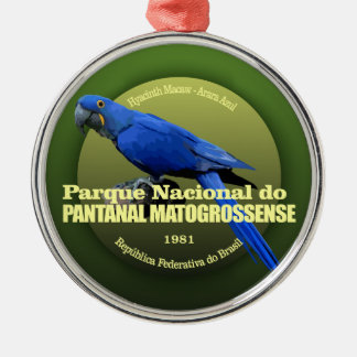 Pantanal Matogrossense NP (Macaw) WT Silver-Colored Round Ornament